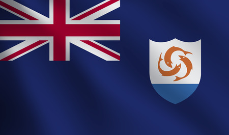 Anguilla flag Illustration