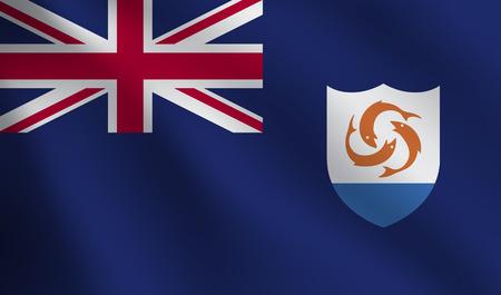 anguilla: Anguilla flag Illustration