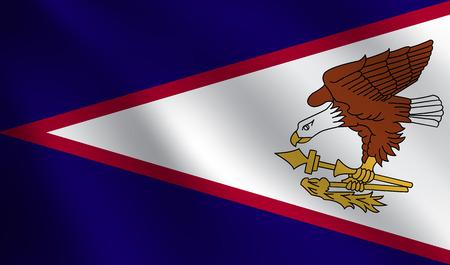 American Samoa flag Illustration