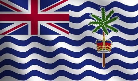 indian ocean: British Indian Ocean Territory flag Illustration