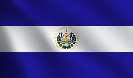 bandera de el salvador: Bandera de El Salvador Vectores