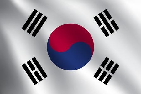 SOUTH KOREA flag Illustration