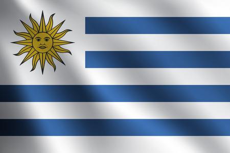 Uruguay flag: Bandera URUGUAY Vectores