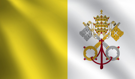 Vatican City Holy See flag Illustration