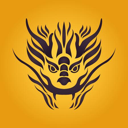 Dragon logo vector design template, dragon icon. Illustration