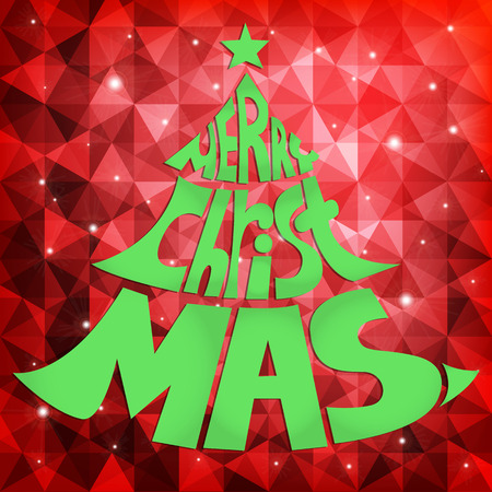 Christmas Greeting Card, vector illustration Illustration