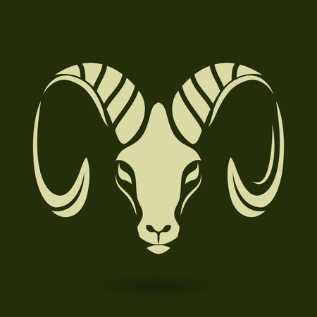 year of sheep: Goat logo