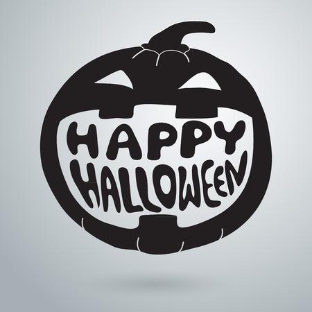 pumpkin halloween: Halloween symbols pumpkin, lettering