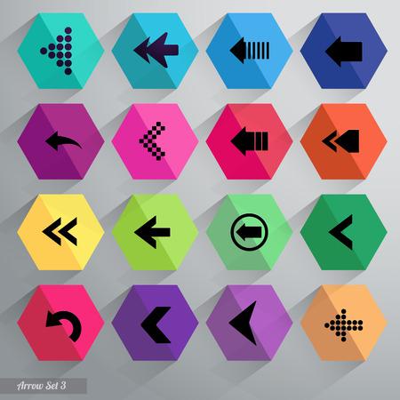 Arrow icon set. Vector. Illustration