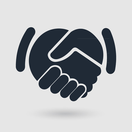 handshake icon. background for business and finance Çizim