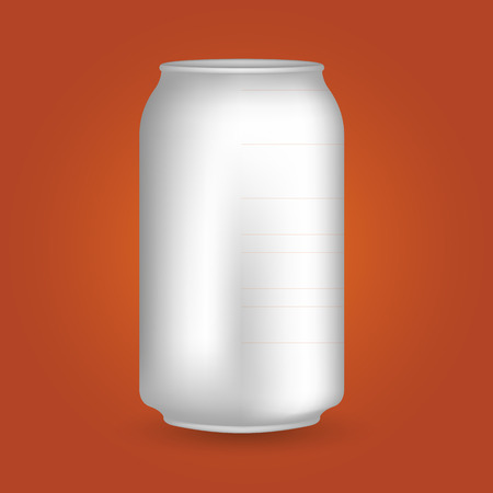tonic: White Blank Drink Can Illustration