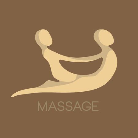 Vector for spa, massage Çizim