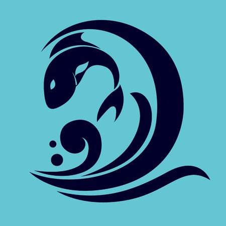 voedingsmiddelen: vis icoon-vector illustratie