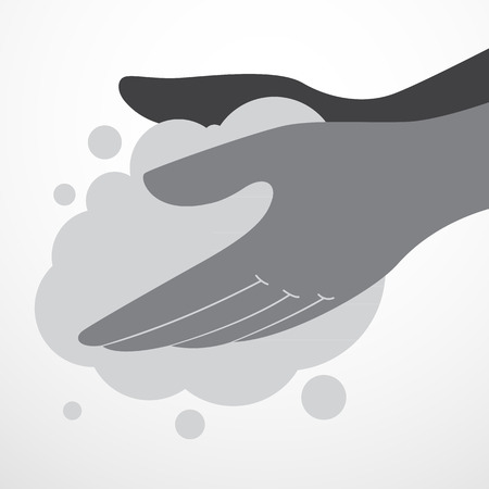 please wash your hands icon: Hand washing icon Illustration