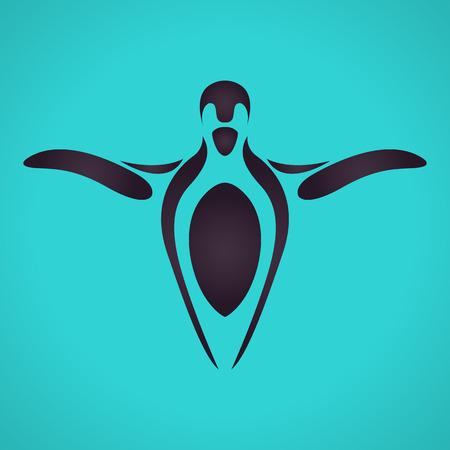 penguin icon vector Illustration