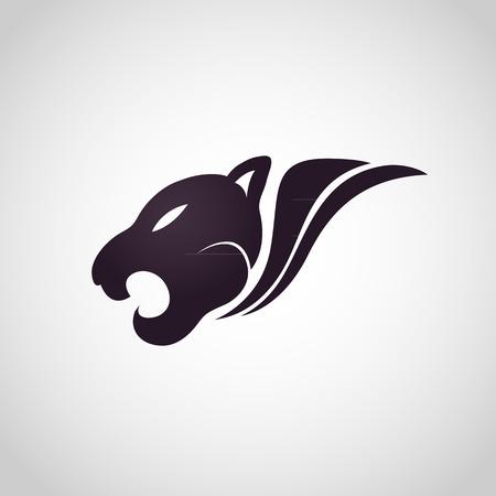 lince rojo: Tiger vector logo