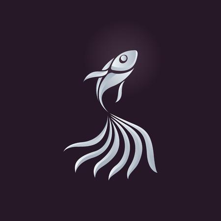 logo poisson: Logo vecteur de poisson Illustration