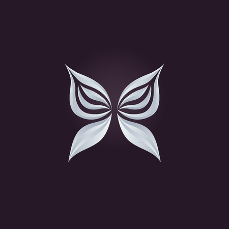 Abstract logo vector design template, Butterfly icon.