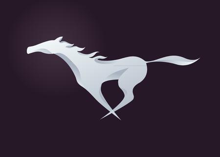 caballo negro: Vector de s�mbolo de caballo Vectores
