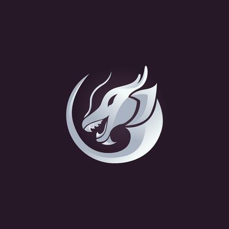 dragon: Dragon vector design template, dragon icon.