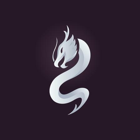 dragones: Drag�n plantilla vector, icono del drag�n. Vectores