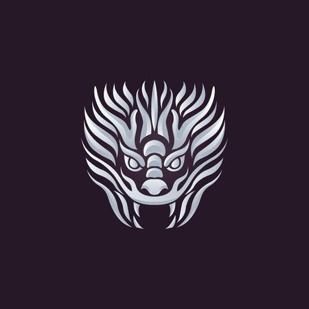 Dragon vector design template, dragon icon.