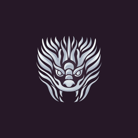 Dragon vector design template, dragon icon. Vector Illustration