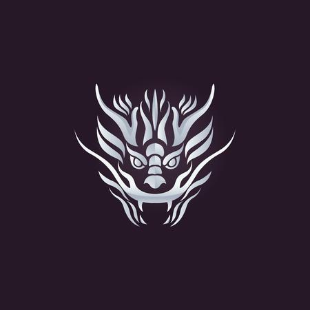 ドラゴン ベクトル デザイン テンプレート、龍のアイコンです。