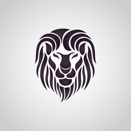 Лев логотип вектор Иллюстрация