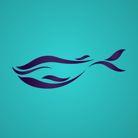 Whales logo vector