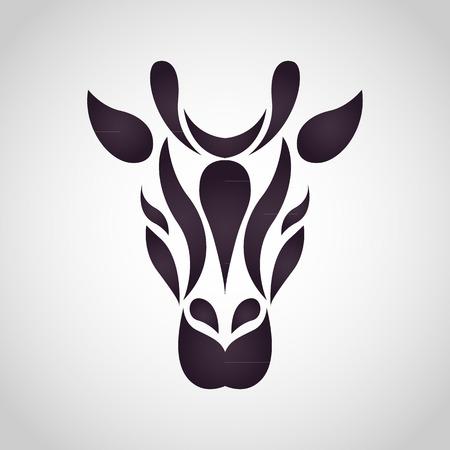 キリンのロゴのベクトル