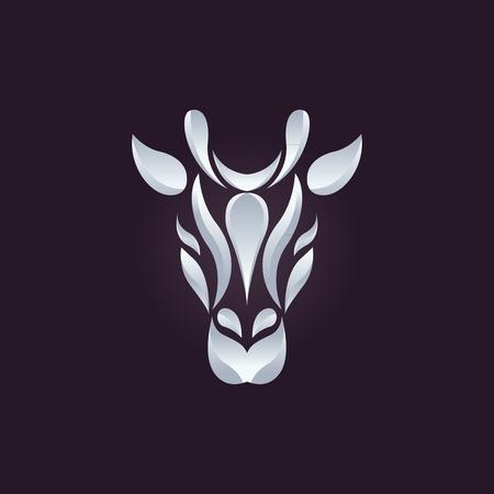 giraffe: Giraffe vector logo Vectores