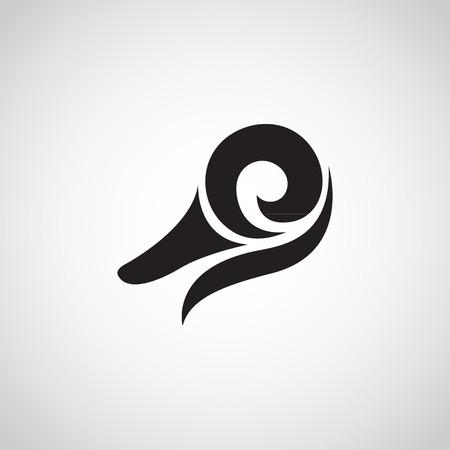 アヒルのロゴのベクトル