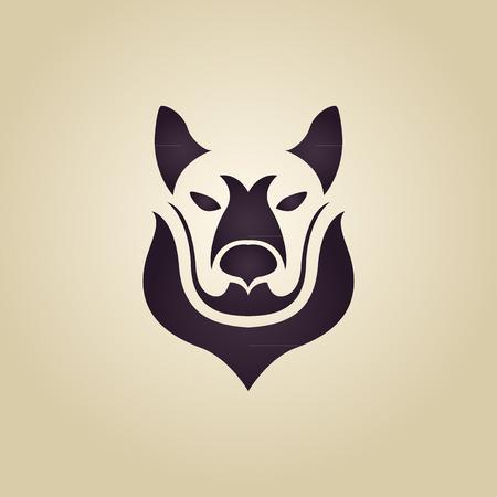 Wolf logo vector Vector
