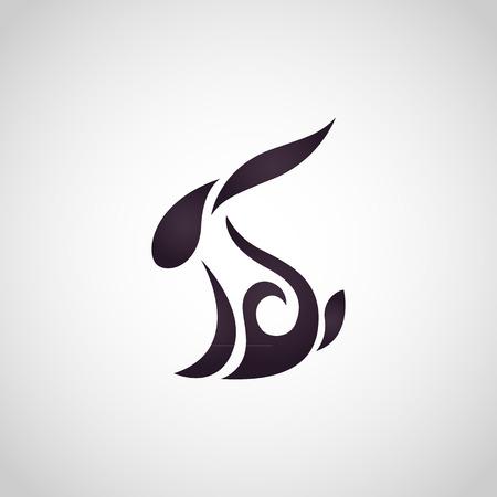 white rabbit: Rabbit logo vector Illustration