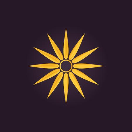 Sun symbol. Abstract vector illustration Illustration