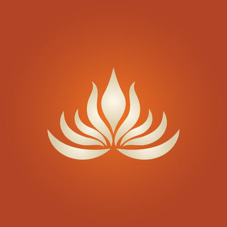 lotus leaf: lotus flower logo vector Illustration