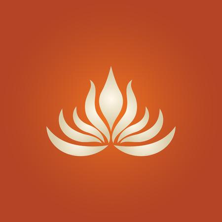 lotus flower logo vector Çizim