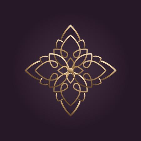 Loto logotipo de la flor del vector Foto de archivo - 37437201