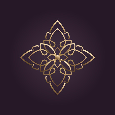 health and beauty: lotus flower logo vector Illustration