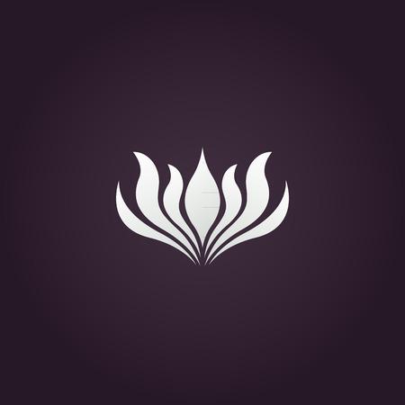 flowers silhouette: lotus flower logo vector Illustration