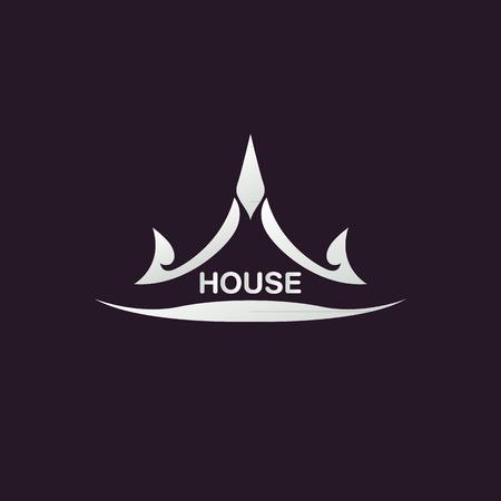 estates: Casa abstracta inmobiliario logotipo de la plantilla de dise�o