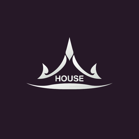 constructions: House abstract real estate logo design template Illustration