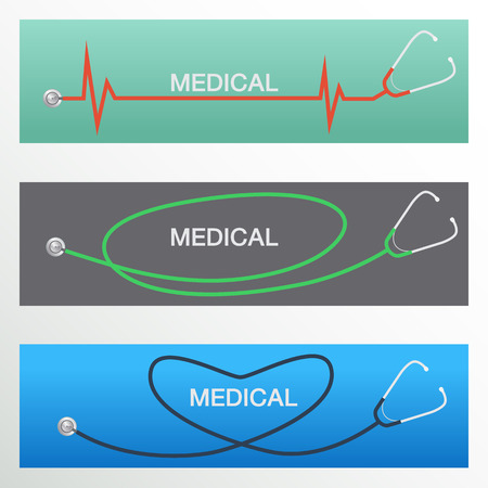 listening to heartbeat: stethoscope vector