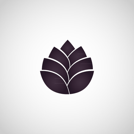 lotus flower icon vector