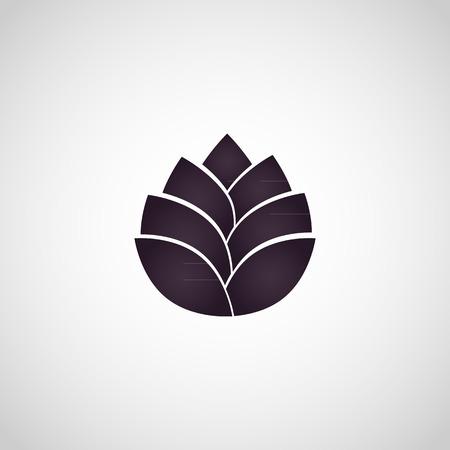 yoga lotus: lotus flower icon vector