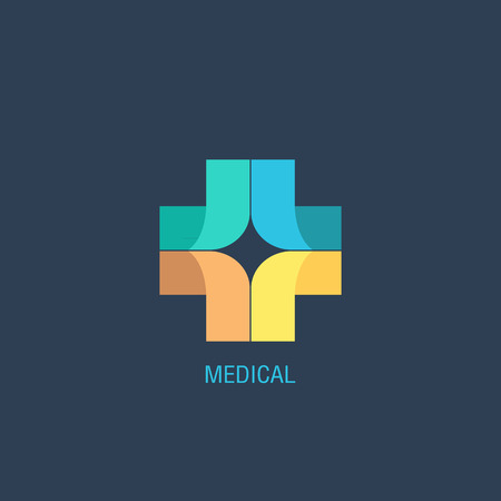 medical cross symbol: Medical logo vector Illustration