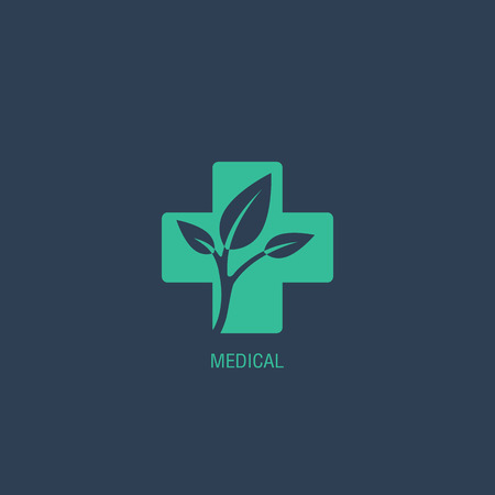Medical logo vector Vectores