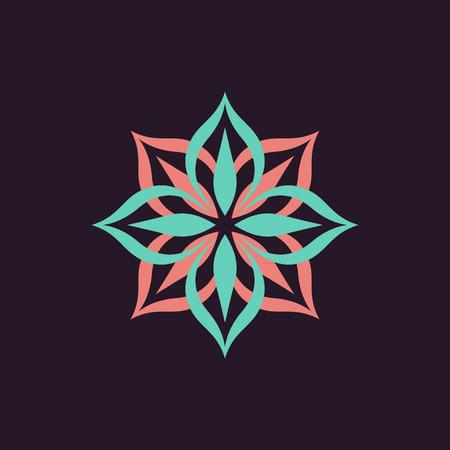 Loto logotipo de la flor del vector Foto de archivo - 37817181