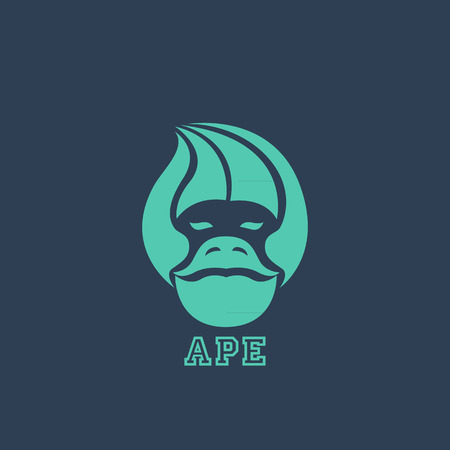 Ape logo vector 일러스트